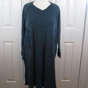 Soft Surroundings embroidered boho maxi dress